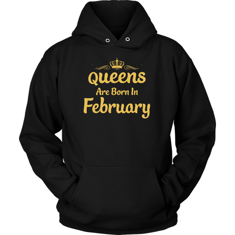 Queens are Born in February Fitness T-shirt
