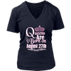 Queens Are Born On August 27th Funny Birthday T-Shirt
