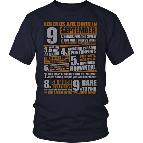 Legends Born In September T-Shirt Virgo Pride