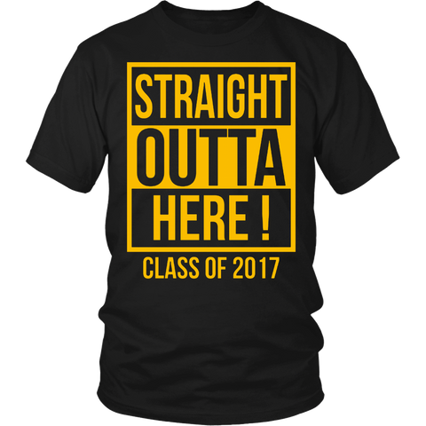 Straight Outta Here Graduation Tshirt Class of 2017