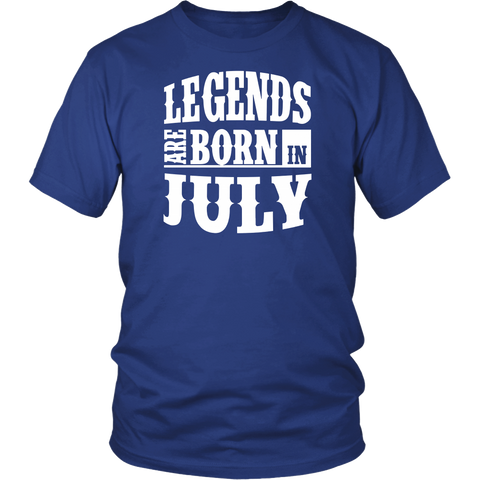 Legends Are Born In July Premium Edition T-shirt