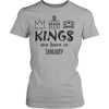 Kings are born in January - Men's birthday t-shirt