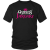 Queens Are Born In January - Birthday Gift T-Shirt