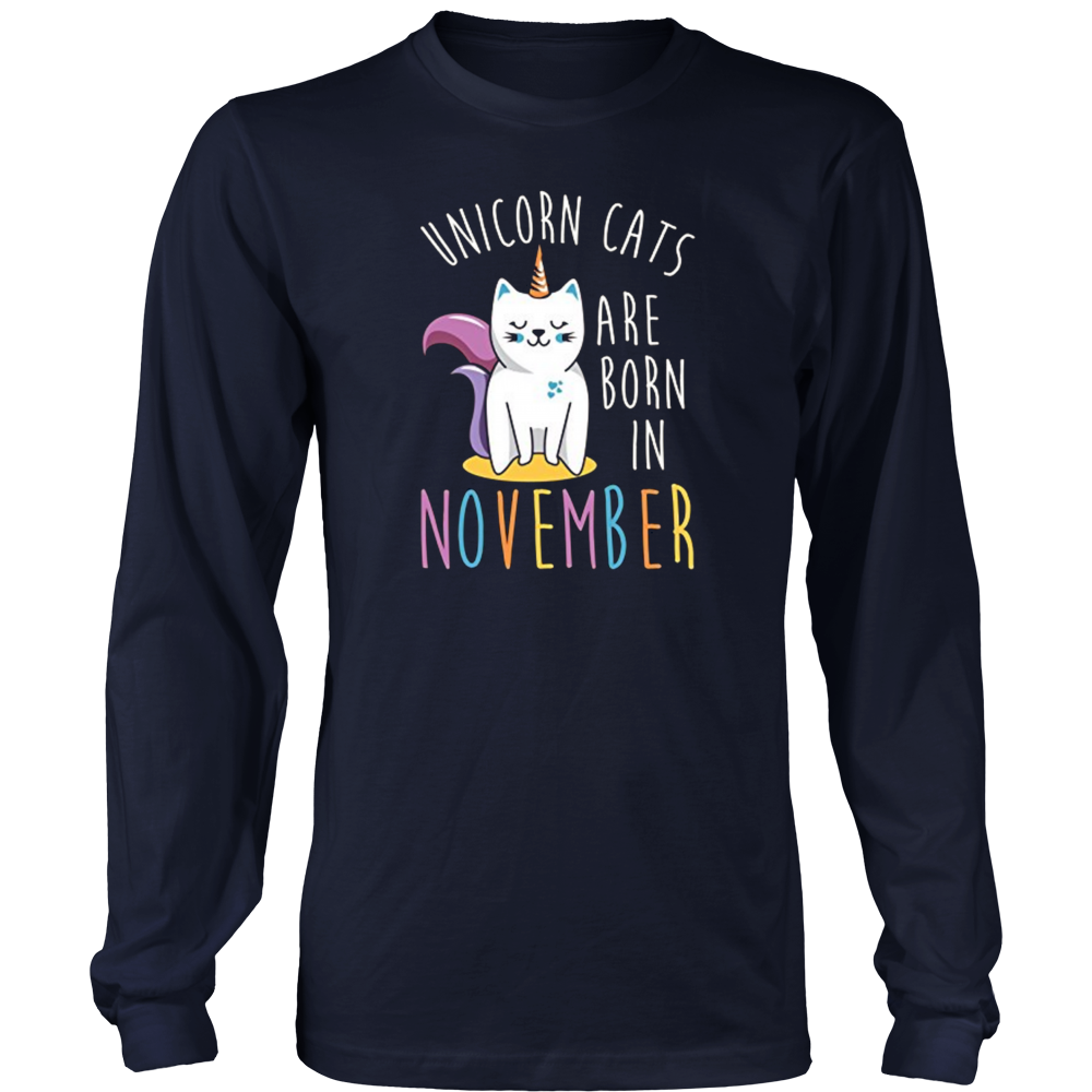 Unicorn Cats Are Born in November T-Shirt Gifts