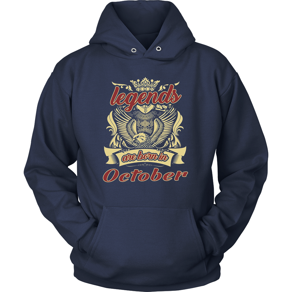 LEGENDS ARE BORN IN OCTOBER. BIRTHDAY PERFECT GIFT FOR MEN/WOMEN