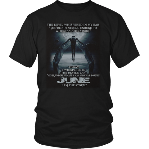 The Devil - born in JUNE - the storm - T-shirt month gif