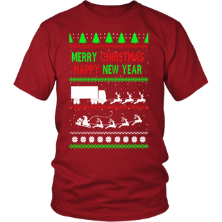 Trucker Christmas T shirt