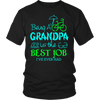Men's Being A Grandpa Is The Best Job I've Ever Had T-Shirts.