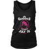 Queens Are Born In On July 08 Birthday Shirt Gift