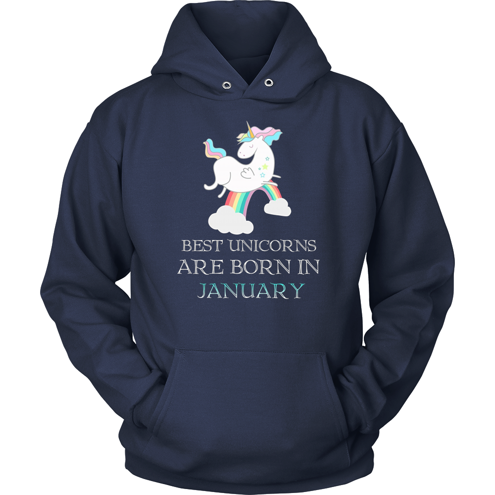 Best Unicorns Are Born In January T-shirts
