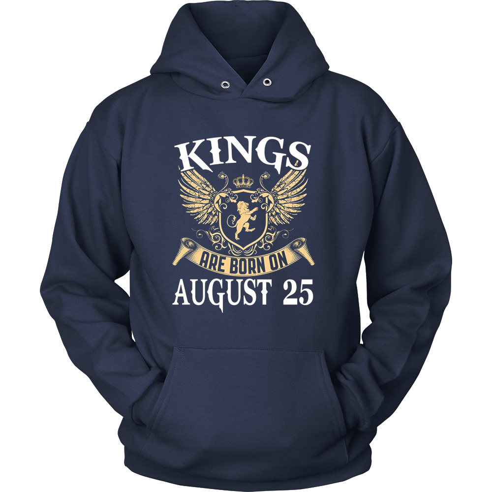 Kings Are Born On August 25 Funny Birthday Gift Shirt