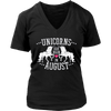Unicorns Are Born in August Vintage Unicorn Birthday Shirt Hoodie