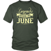 Soccer Legends Are Born In June Birthday Gift T-shirt