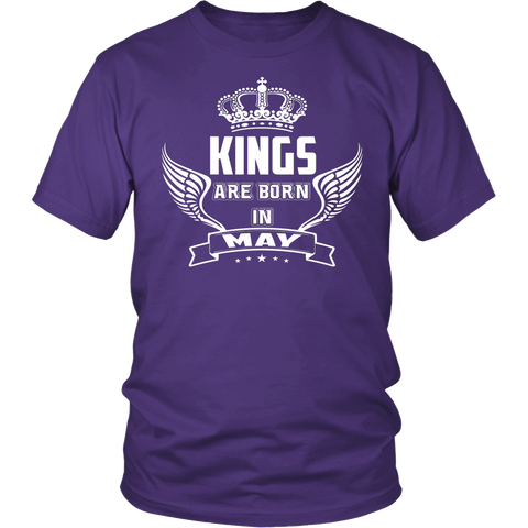 Men's Kings are born in May t shirt