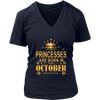Princesses Are Born In October Shirt