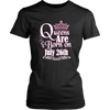 Queens Are Born On July 26th Funny Birthday T-Shirt