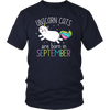 Unicorn Cats Are Born In September Cute T-shirt