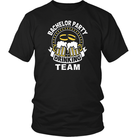 Bachelor Party Drinking Team Funny Grooms TShirt