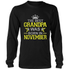 THE BEST GRANDPA WAS BORN IN NOVEMBER T-SHIRT