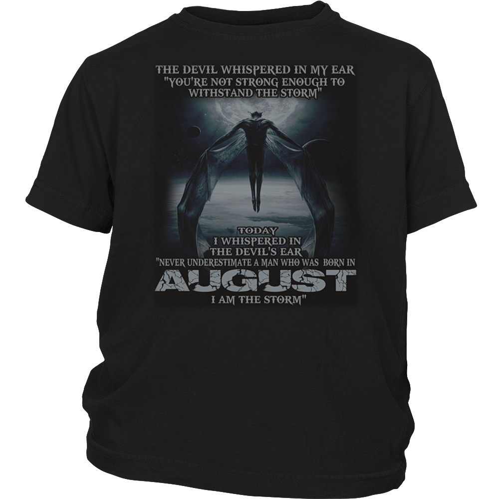 The Devil - born in August - the storm - T-shirt month gif