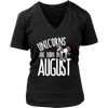 Unicorns are born in AUgust t-shirt unicorn lovers august t-shirt birthday