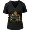 Queens Are Born In October T-Shirt