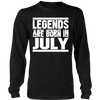 Legends Are Born In July T-Shirt Cancer Leo Zodiac Gifts