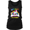 Unicorns queens are born in October - Birthday T-shirt