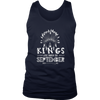 Mens Kings are Born in SEPTEMBER NA White C1 Funny T-shirt