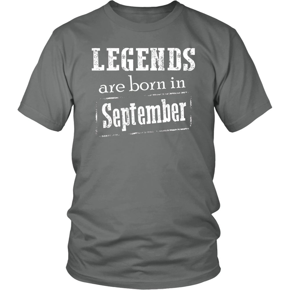 Legends Are Born In September T Shirt
