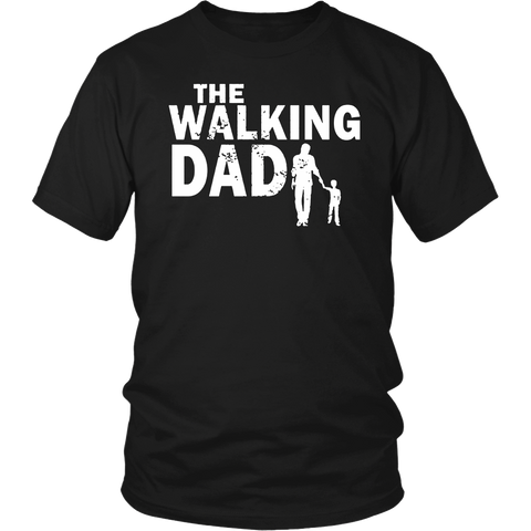 Walking Dad Cool Graphic Fathers Dead Tshirt