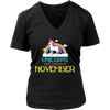 Unicorns Are Born In November Rainbow Artistic Cool T-Shirt