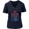 OCTOBER QUEENS ARE BORN IN OCTOBER MONTH SHIRT