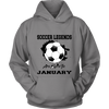 Soccer T-shirt Legends Are Born In January Soccer Ball Shirt