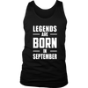 LEGENDS ARE BORN IN SEPTEMBER T- SHIRTS