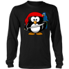 Funny Shirt with Pirate Penguin Animal Comic Cartoon Style