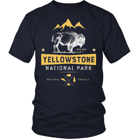 Yellowstone National Park Bison Buffalo T-shirt - Vintage
