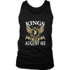Kings Are Born On August 05 T-shirt August Birthday Gifts