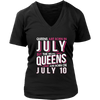 Real Queens Are Born On July 10 T-shirt 10th Birthday Gifts