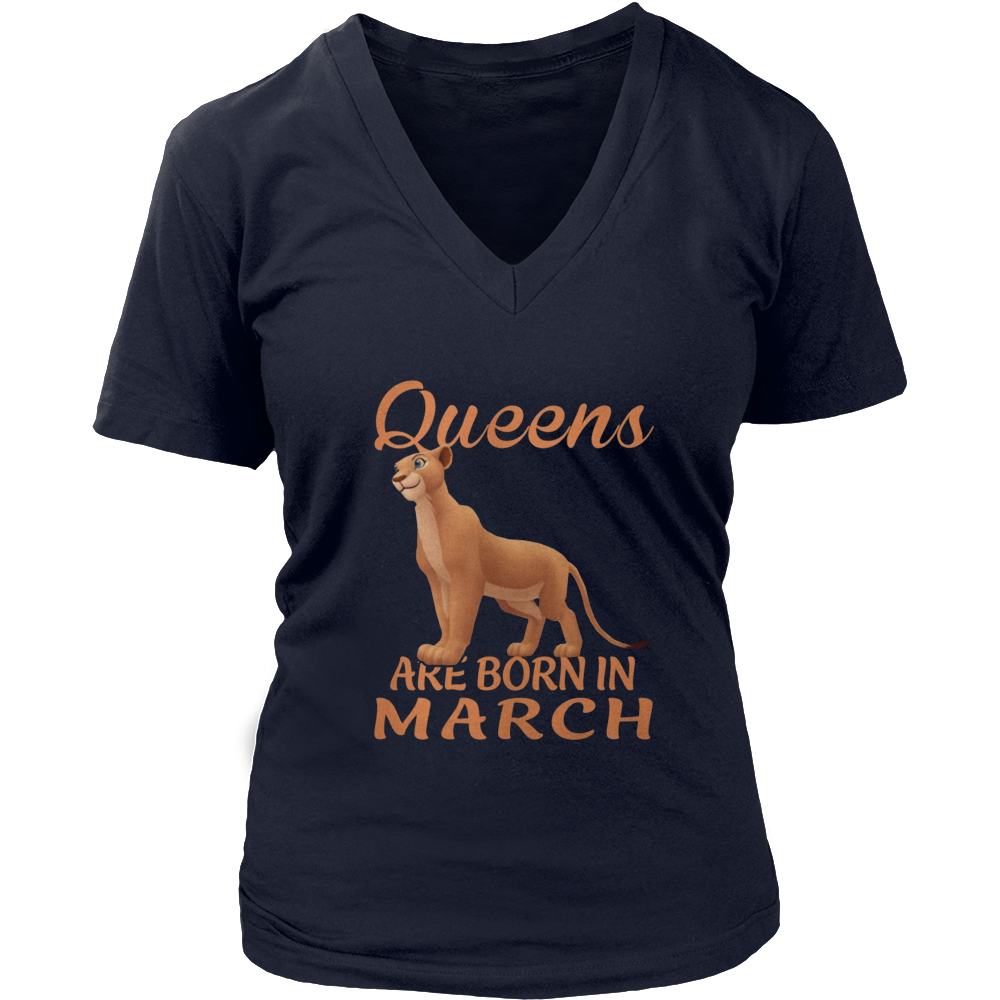 Unicorn Queens Are Born In March T-Shirt Birthday Gift