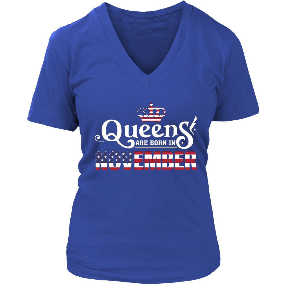 Queens are born in November Independence Day T Shirt