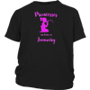 Princesses are Born in January Princess Birthday Shirt