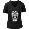 All men are created equal the best are born in july shirt