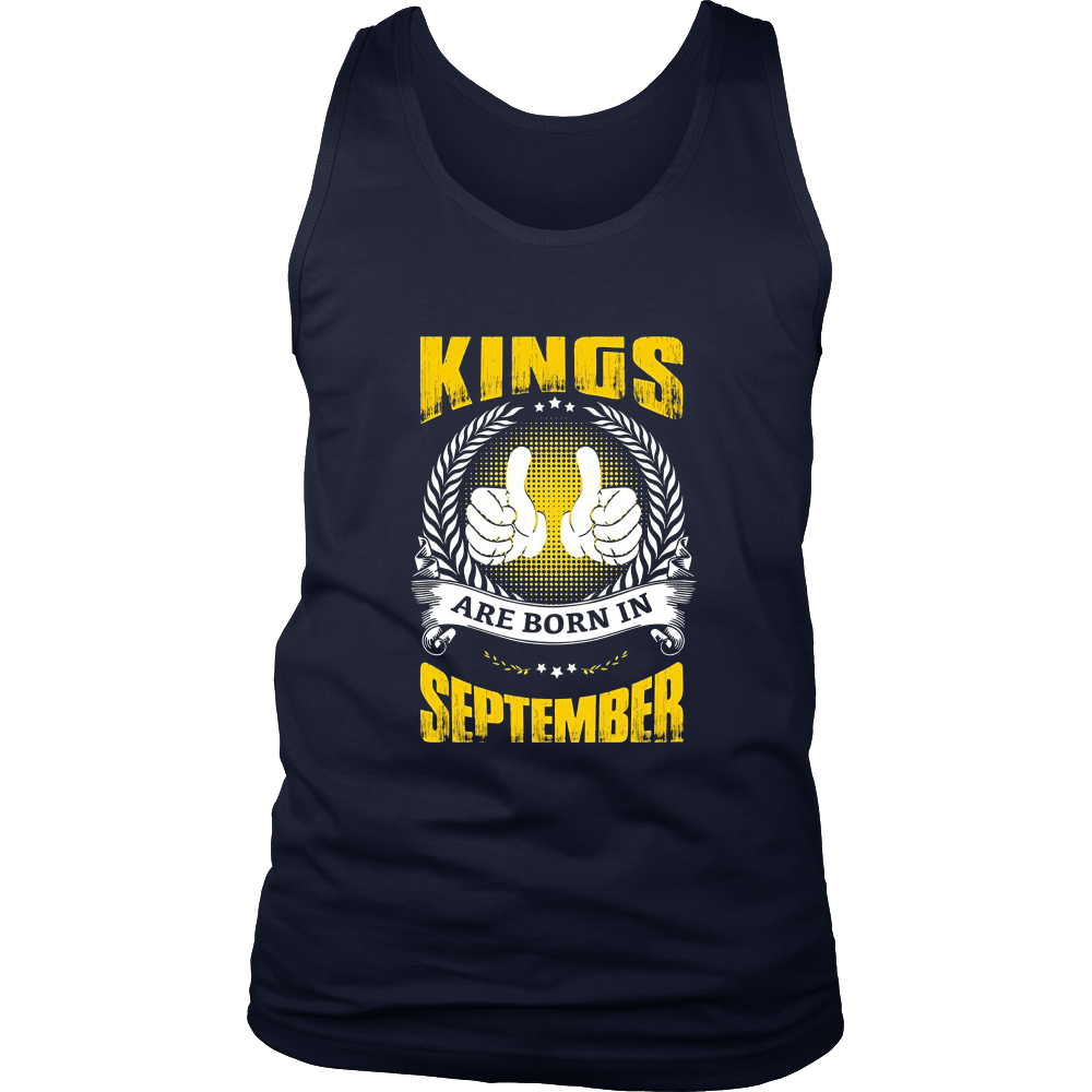 Kings Are Born In September Thumbs Up Birthday Gifts for Men