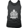 Mens Kings are Born in AUGUST Mexico Birthday White C2 T-shirt