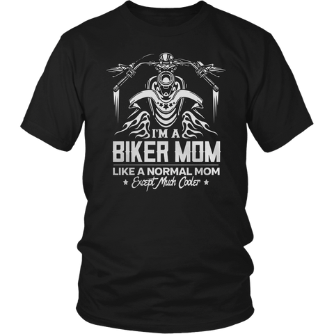 MOM COOLER THAN A NORMAL MOM MOTORCYCLE T SHITS
