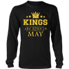 Kings Are Born In May - Birthday T-Shirt