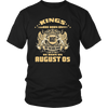 Mens Kings Are Born on August 05 Birthday T Shirt