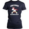 Unicorns are Born in August T Shirt | Unicorn Party Supplies