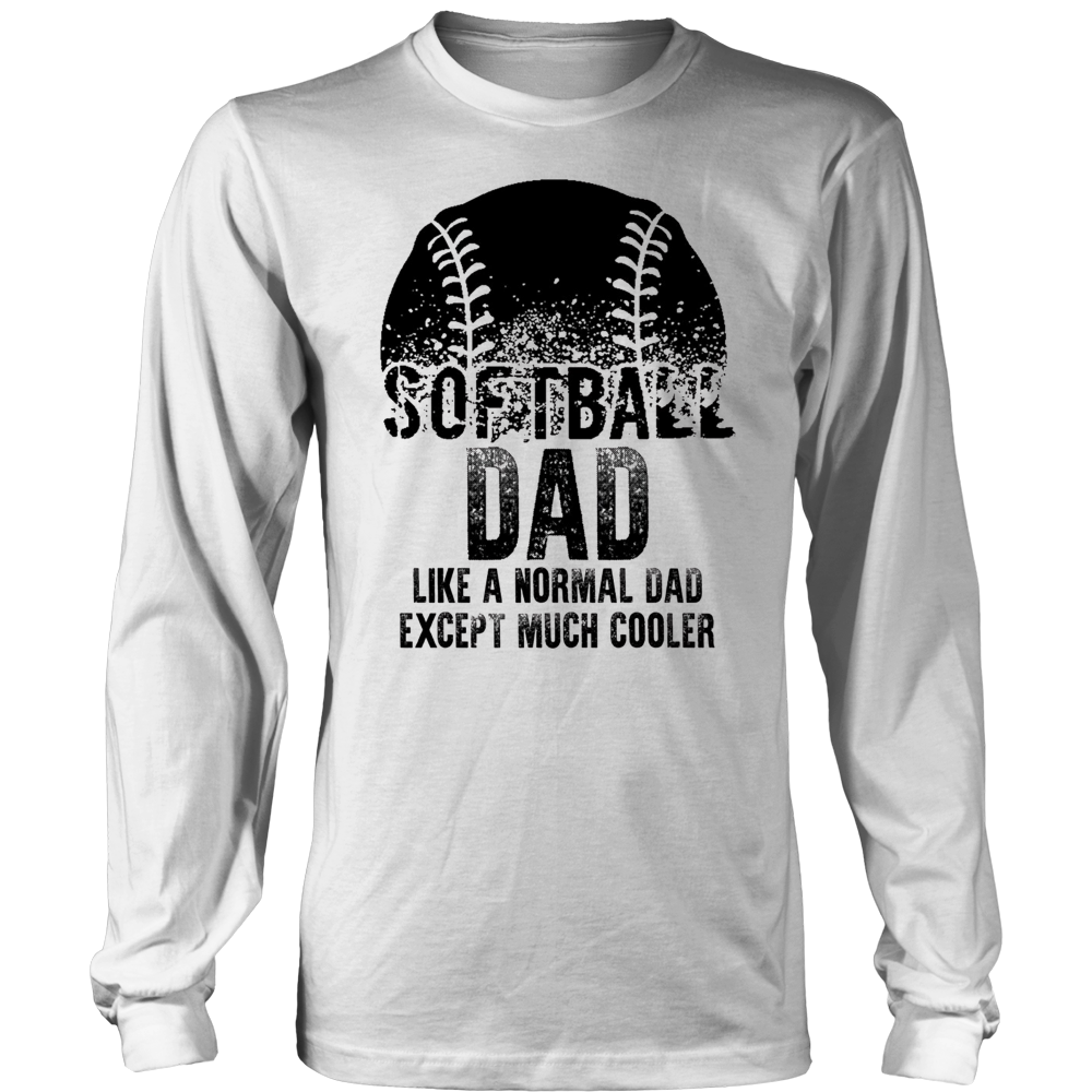 Softball Dad Father's Day Gift Father Sport Men T-shirt